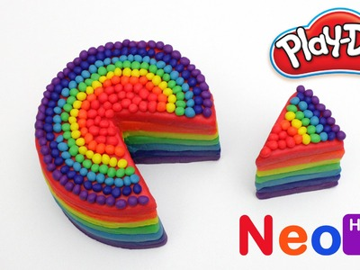 Play Doh How To Make Rainbow Cake Clay Play Dough Fun For Creative Kids Easy DIY