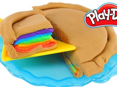 Play Doh Playful Pies Playset | How To Make Rainbow Desserts | Playdough Videos
