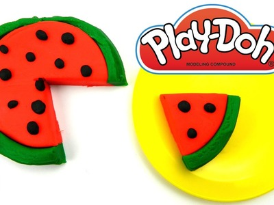Play Doh Watermelon - Learn how to make Play Doh Watermelon for Kids
