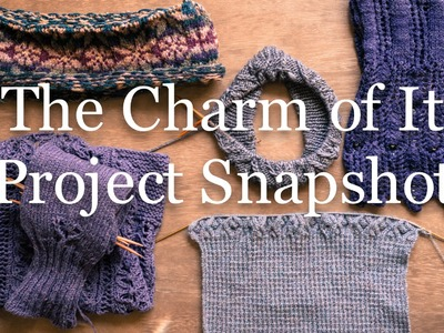 The Charm of It Knitting Podcast 27: Project Snapshot of Sept 18th