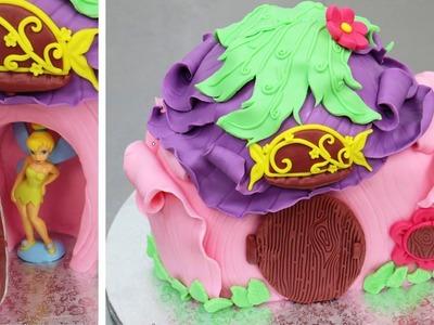 Tinkerbell House Cake - How to make. Tarta Campanilla