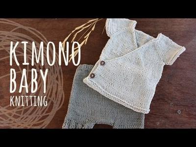 Tutorial Knitting Baby Kimono (Kimono Set)