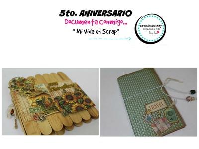 TUTORIAL MINI ALBUM SCRAPBOOK.  Concurso 3 de Aniversario * Creaciones Izzy