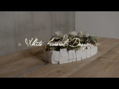 White funeral flower design by Bea Beroy | Flower Factor How to Make | Powered by Fuerte Planta