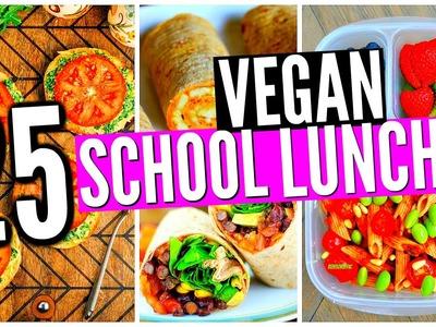 25 VEGAN School Lunch Ideas! DIY Healthy Snacks!