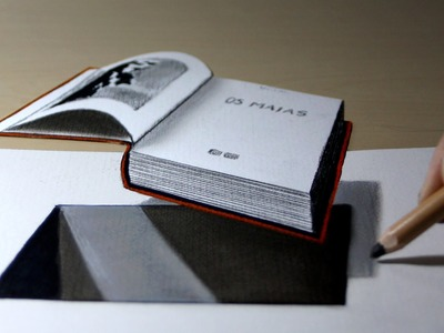 3D Trick Art on Paper, Book out of hole