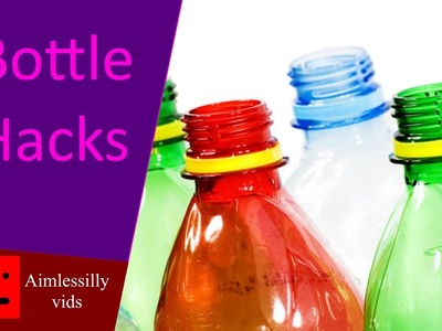 AMAZINGLY easy BOTTLE life HACKS - DIY bottle crafts - part 1