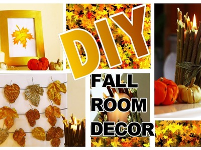 DIY Autumn.Fall Room Decor! 3 Easy DIY Fall Home Decoration Ideas