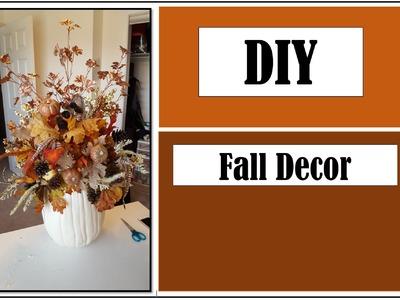 DIY Fall Decor: Pumpkin Centerpiece