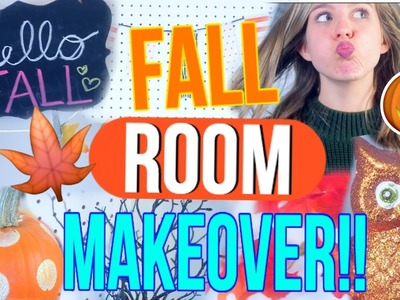 DIY Fall Room Makeover!! | How to Make Your Room Cozy and Festive for Fall!!