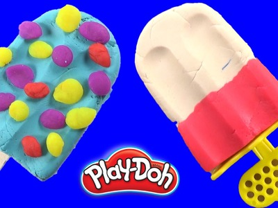 DIY How To Make Play Doh Icecream Learn Colors , Play Doh Popsicles Scoops 'n Treats DIY Ice Cream