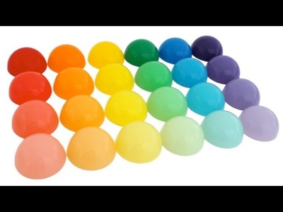 DIY How to Make Rainbow Round Jelly Gummy Puddings * Learn Colors * RainbowLearning