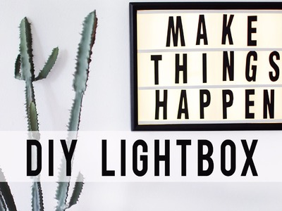 DIY LED LIGHTBOX HACK | Room Decor | ANN LE