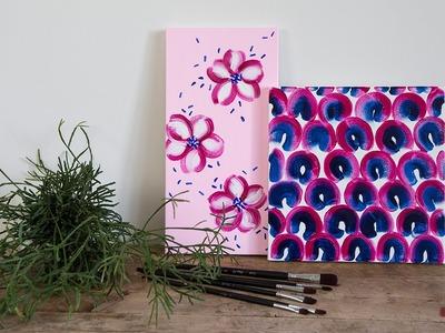 DIY: Painting idea by Søstrene Grene