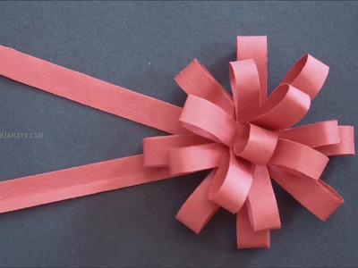 DIY Paper Bow in Paper Crafts by SrujanaTV