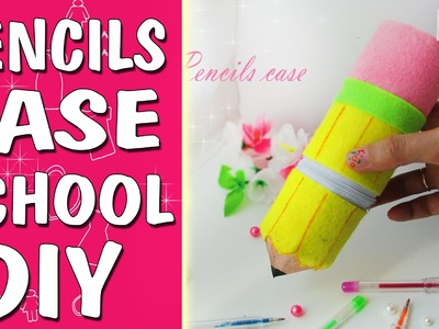 DIY PENCIL CASE. Back to School.From The Toilet Paper Tube & Felt