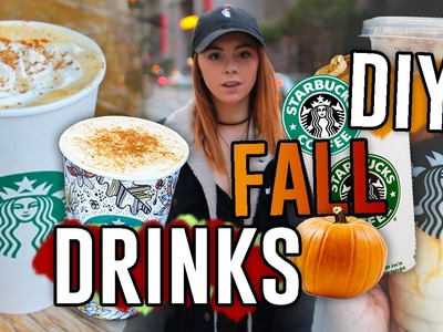 DIY Starbucks Drink Recipes for the Fall!! Pumpkin Spice Frap, Macchiato, & MORE. Jill Cimorelli