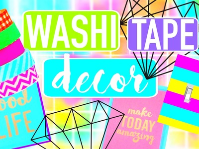 DIY WASHI TAPE ROOM DECOR | DORMSPIRATION