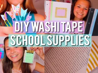 DIY Washi Tape School Supplies!!