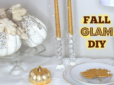 DIY WITH ME: GLAM FALL DECOR | KateLoveStyle