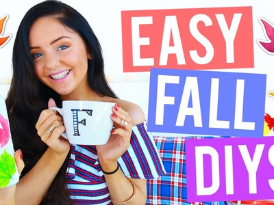 EASY DIY Fall Room Decor 2016! Cheap, Cosy + Easy Room Decorations for Autumn! Tumblr Inspired!