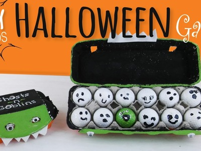 Easy DIY | Halloween Party Game for Kids | Egg Carton & Golf Ball Craft