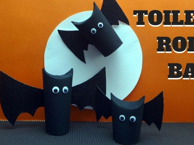 Halloween Crafts - Toilet Paper Roll Bat - Toilet Paper Roll Crafts