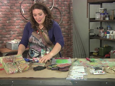 Julie Fei Fan Balzer makes cool wrapping paper from paper bags on Make It Artsy (104-2)
