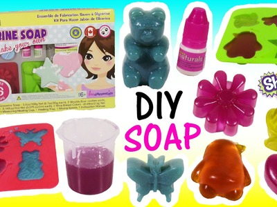 Kiss Naturals DIY SOAP Making KIT! Melt Mix & Make Your Own Glittery Soap! SHOPKINS Season 2! FUN