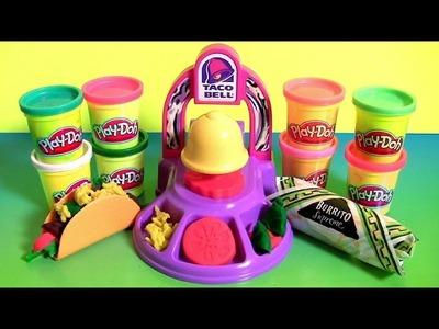 Play Doh Taco Bell Playset DIY Waffle Tacos Burritos Nachos Play Dough Food Meal Clay Toys