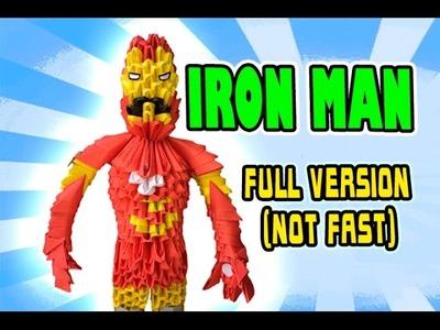 3D MODULAR ORIGAMI #115 IRON MAN FULL VERSION (NOT FAST)