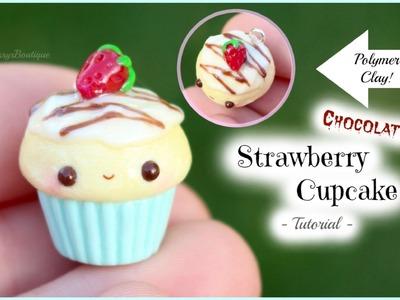 Chocolate Strawberry Cupcake Tutorial! | Kawaii Polymer Clay