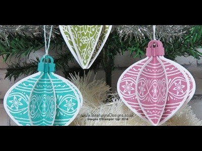 Crafty christmas countdown #2   3d bauble