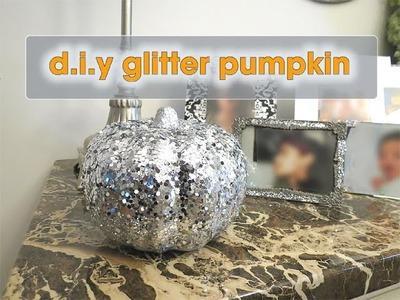 D.I.Y.  Silver Glitter Pumpkin - Dollar Tree - Fall Decor