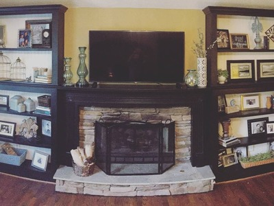 DIY Built-in Bookcase With Adjustable Shelves (CMRW#48)