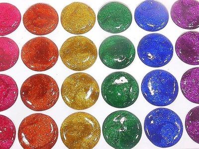 DIY How To Make Glitter Rainbow Colors Half Circle Clay Slime Clay Slime Toys | Baa Baa Black Sheep
