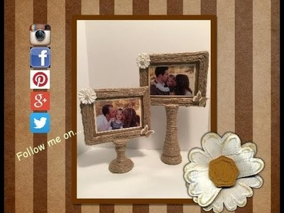 DIY Picture Stand #2 Made from two dollar tree items