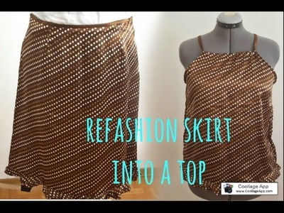 DIY REFASHION SKIRT INTO A TOP