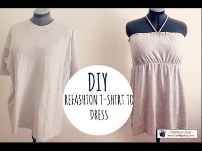 DIY REFASHION T-SHIRT TO DRESS