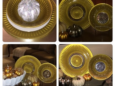 Dollar Tree DIY (Z Gallerie Tablescape Inspired Gold Plates & Bowls)