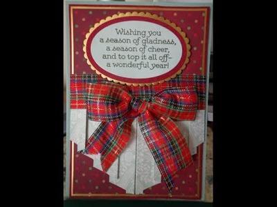 ~ Fun fold curtain fold ~Christmas card ~Tutorial