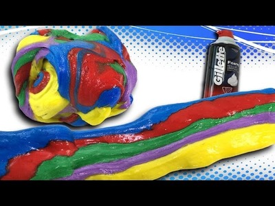How to Make Fluffy Rainbow Slime with Shaving Cream