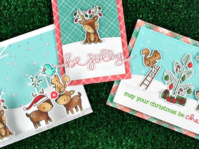 Intro to Cheery Christmas + 3 cards from start to finish