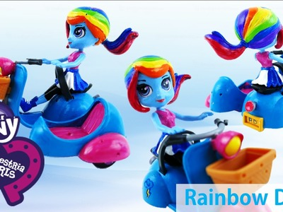 New My LIttle Pony Equestria Girls Rainbow Dash Doll Custom with LPS Blythe