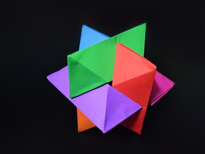 Origami: Puzzle Six Pieces. Burr Puzzle - Instructions in English (BR)