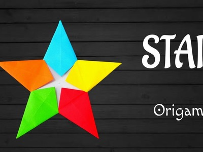 "Origami Tutorial to make ""Modular Star"" for Diwali | Christmas | Eid decoration."