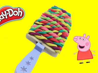 Peppa Pig and play doh Toys! - Create ice cream rainbow with play dough Frozen n2toys