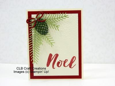Stampin' Up! Pinterest Inspired Christmas Pines Card