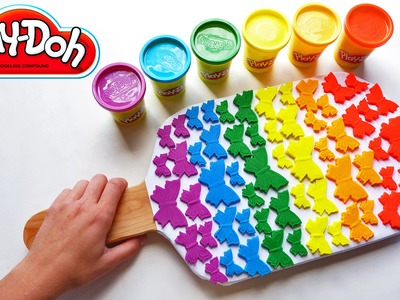The Biggest Play Doh Butterfly Popsicle on Youtube | DIY Rainbow Colors Learning Video | Education