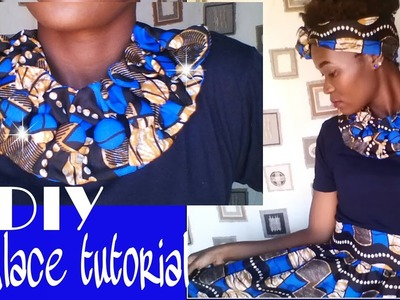 African Print Fabric Bow necklace tutorial